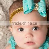 New selling the European and American children tire PVC color butyl bowknot diamond powders with 8 color bow