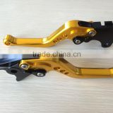 Short Style Clutch & Brake Levers Set Gold FIT for Suzuki DL650W-STROM 2011-2012 F14 S248