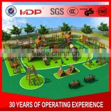 Wholesale wooden outdoor amusement park equipment, big kids playground equipment