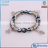 New 2015 product idea black evil eye beads bracelet with hamsa charm wholesale