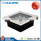 High efficiency floor step outdoor buried lamp IP67 waterproof LED 9W square underground light inground light