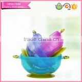 Free adult baby products customized color food grade pp suction new baby feeding bowl with grip manufacture