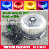 DC12V-24V led lightbar 240 LED 24W Beacon light with Magnets Emergency Strobe Light bar 4 colors LED warning Light