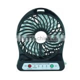 LOWEST price in China hot sale rechargeable battery operated fan mini desktop mist cooling fan