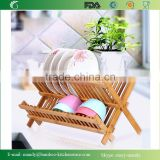 Promotional Bamboo Kitchen Rack Bamboo Dish Dryer for Dishes, Bowls, Plates, Cups