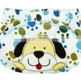 3 layer cute dog baby cloth nappy, baby diaper, cartoon reusable baby nappy, cartoon embroidered training baby cloth nappy,