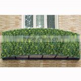 Plastic leaf fence, artificial cypress grass wall