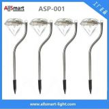 RGB color Stainless Steel solar powered stake garden lights for pot plant