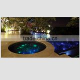 Super bright fiber optic light kits for swimming pool giving twinkle effect with WIFI function work according to music rhythm