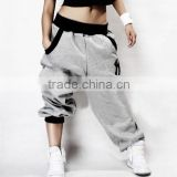 Mens Womens Hip-hop Harem Baggy Pants Crotch Collapse Sweatpants Dance Trousers