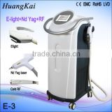 Vascular Tumours Treatment 1064 Nm 532nm Nd Tattoo Removal Laser Equipment Yag Laser Tattoo Removal Beauty Machine 0.5HZ