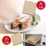 PTFE and fiberglass reusable toaster bag fit for cooking bread fish meat in toaster and oven easily clean
