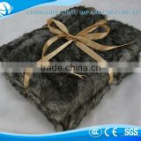 Wholesale Customized super soft fluffy faux fur throw blanket