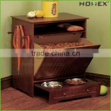Wood Pet Storage Cabinet Feeding Station Homex_BSCI Factory