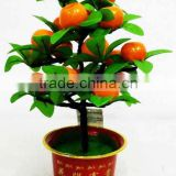 High quality atificial Orange tree bonsai real touch wholesale for indoor & outdoor decoration