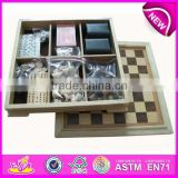 2015 Intelligent wooden board chess,most popular wooden chess borad,brain training wooden board chess WJ277112-22