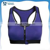 high impact sports bra women's sports bra wholesale sports bra with metal zipper