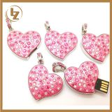 Diamond Heart type USB Flash Drives USB 2.0 Pen Drive 32GB/16GB/8GB/4GB pendrives U disk
