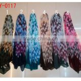 new fashion spring feather print scarf shawl pashmina