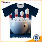 Custom sublimation printed 5xl bowling shirts
