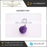 Excellent Quality Durable Monkey Fist Nautical Rope Keychain Available for Various Size and Shape