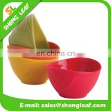 Custom printed flexible Silicone Bowls