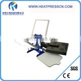 2 Color 1 Station Silk Screen Printing Press