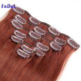 Low Cost Attractive And Durable 100% Full Cuticle Straight Clip In Hair Double Drawn European Hair Extensions