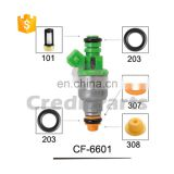 CF-6601 Fuel Injector Service Kits Fuel Parts (Micro Filter , Rubber O ring , Seal , Cap )