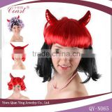 Best Quality Lady halloween wigs Use Heat Resistant Synthetic Hair Long Wavy Horn Party Wigs