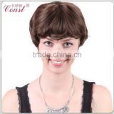 cheap sexy lady short chocolate human hair wig