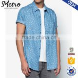 Latest Design All printed Men's Short Sleeve Button Up Shirts