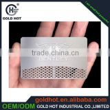 custom thin metallic PVC plastic nameplate card business card