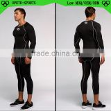 (OEM/ODM Factory)men running wear skin compression tights /custom men compression tights clothes