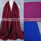 New Design Cotton Colorful Pearl Beads Muslim Hijab Shawl                                                                         Quality Choice