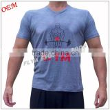 Men's Bodybuilding Clothing Sport Gym Wear Short Sleeves fitness cotton t shirt custom