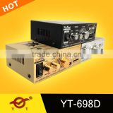 Logo Custom professional power amplifiers for charging mobile phone YT-698D with usb/sd three colour