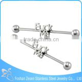 Surgical Steel Cool English Letter Industrial Piercing Barbell Earings