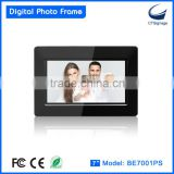 7-inch ultra slim electronic photo frame BE7001PS mass production for retails, wholesales, distributors