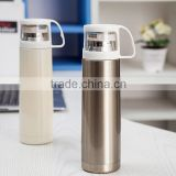 bullet shape vacuum mug bottle with handle lid