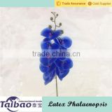 Latex material phalaenopsis type wedding decoration real touch blue orchid