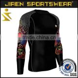 Custom men's compression shirt from fitness apparel manufacturers profession design for you
