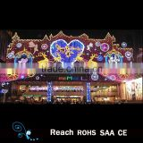 christmas decoration supplies wall decorative outdoor /front door hanging led lights led street motif light