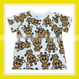 2016 Fashion Products Bros Mysterious Bros Giraffa Unisex Cotton Printed Short Sleeve White T-Shirt