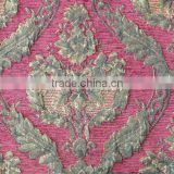 Beautiful Arab Big Red Flower Unique Design Jacquard Chenille Sofa & Bed Sheet Fabric SFT005