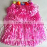 hula skirt / party accessory hawaii hula skirt / hot sale pink hula skirt