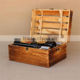Wholesale Custom 6 Bottle Pine Wooden Wine Gift Box                                                                         Quality Choice