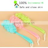 Long handle bath in colorful flower flower bath ball the bathroom shower bath brush bubble bath yarn bath brush