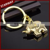 New Arrival cute 3D Elephant Keyring for Promotional Gifts/