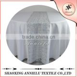 Cheap chemical embroidered table runner for round tables